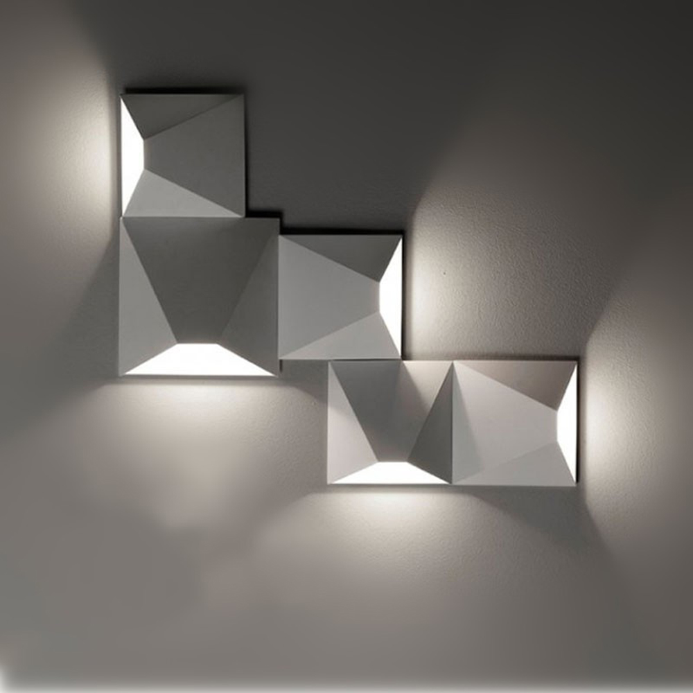 HTB1ULEVXshmZKJjSZFPq6A5 XXal - LED Modern Geometric Iron Acryl Black White DIY Magic Box LED Lamp LED Light Wall lamp Wall Light Wall Sconce For Store Bedroom