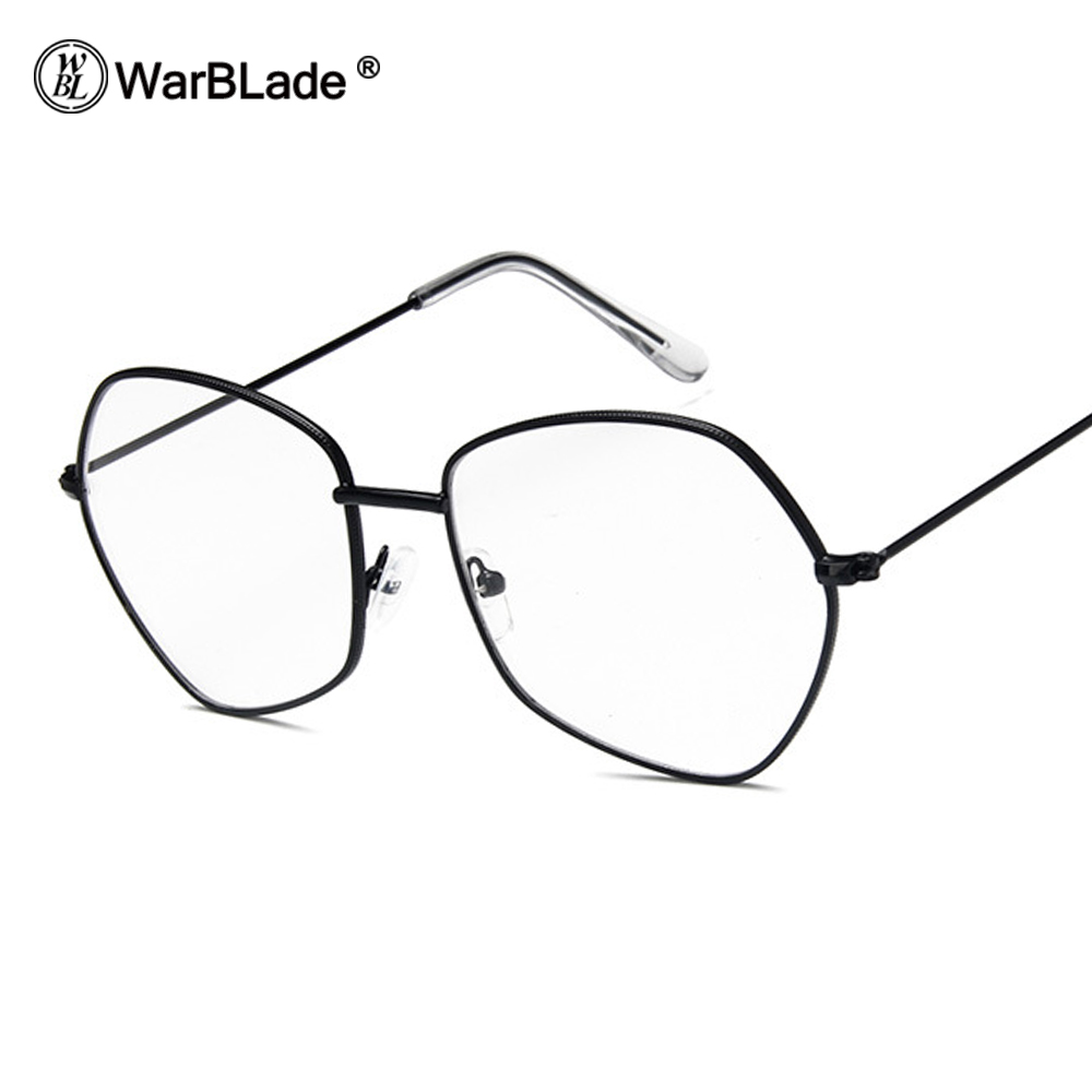 3a20b982e1 WarBLade Fashion Black Glasses Frame Women Men Square light Optical  transparent Clear Glasses Spectacles Eyeglass Nerd Glasses-in Eyewear Frames  from ...