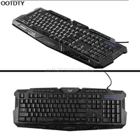 P Adjustable Crack LED Pro Gaming Keyboard USB Wired Powered Full N Key For LOL Computer Peripherals New hot