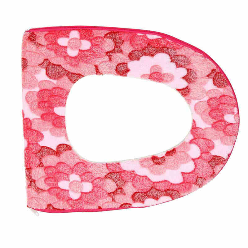 Ванная комната теплое сиденье на унитаз чаша мягкий клей клейкие ленты цветок моющиеся Крышка Pad шт. Туалет коврики wereld 19jan22
