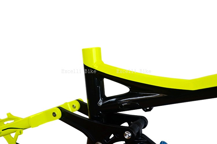7005 Aluminum Alloy Cycling Frame Soft-tail Frame Full Suspension Downhill Mountain Bike26 27.5 Frame For Disc Oil Brake for 21 speeds18