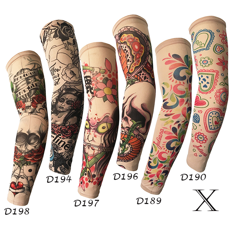 Ice Sleeve Unisex Summer Outdoor Skateboard UV Protection Uniform High Elastic Breathable Tattoo Tattoo Print Arm Sleeve