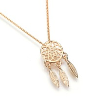Earrings Gold Fashion Necklaces Pendant – Women's Dream Catcher Design Necklace