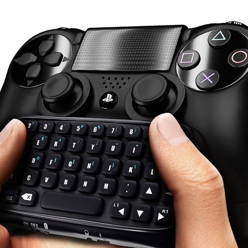 Amable ¡en Stock! 1 Pc 3,5mm Enchufe Negro Mini Teclado De Mensaje Inalámbrico Para Ps4 Controlador Al Por Mayor