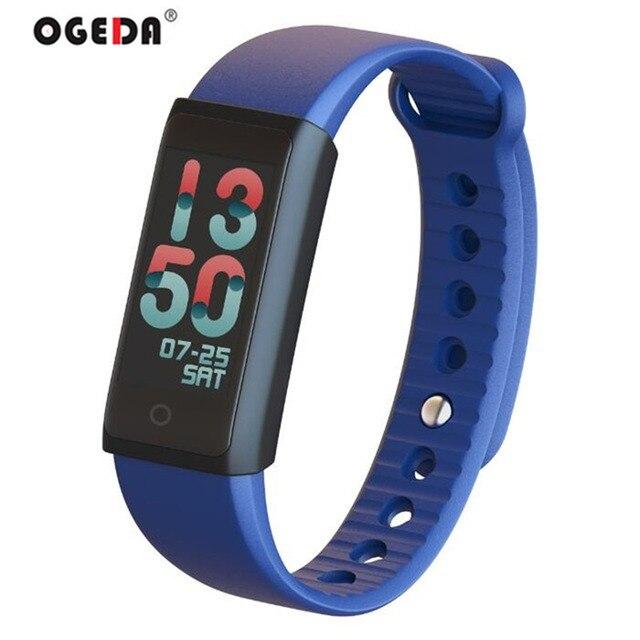 OGEDA 2018x6 ثانية المرأة ساعة ذكية الملونة TFT-LCD شاشة القلب معدل ضغط الدم SPO2 جهاز تعقب للياقة البدنية الذكية معصمه