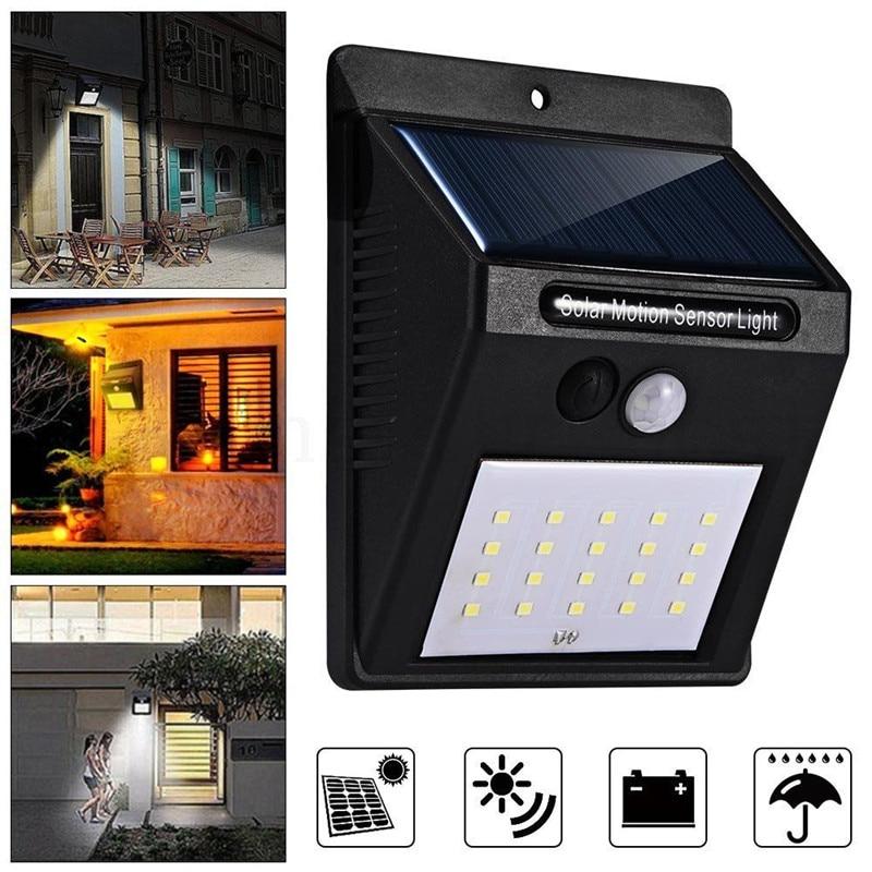 20 Led Waterproof Solar Power Pir Motion Sensor Wall Light Garden Lamp Decoration Outdoor Garden Security Lamp Special Buy Lights & Lighting Led Lamps
