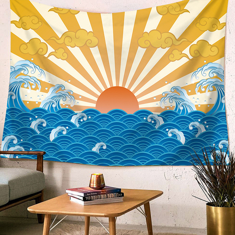 Wall Hanging Sea Wave Printed Large Tapestry Home Decor