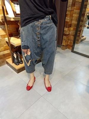 Oversized Wide Leg Jeans Women Baggy Low Crotch Denim Pants Hip Hop Cowboy Harem Trousers Boyfriend Sagging Skateboard Joggers
