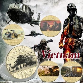WR 1959-1975 nos Vietnam batalla chapados en oro Recolección de monedas de la ii Guerra Mundial monedas de desafío Original Año nuevo regalo de los hombres Dropshipping. Exclusivo.