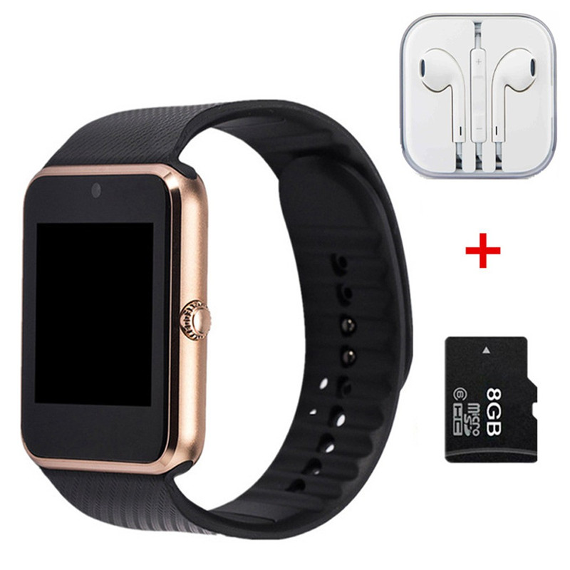 Hot Smart font b Watch b font GT08 Clock Sync Notifier support SIM TF Card Connectivity