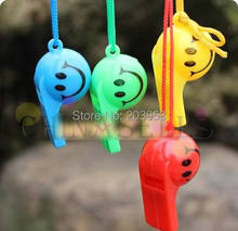 MIX 10USD 2pcs colorful soccer funny face kid fans whistle cheerleading children
