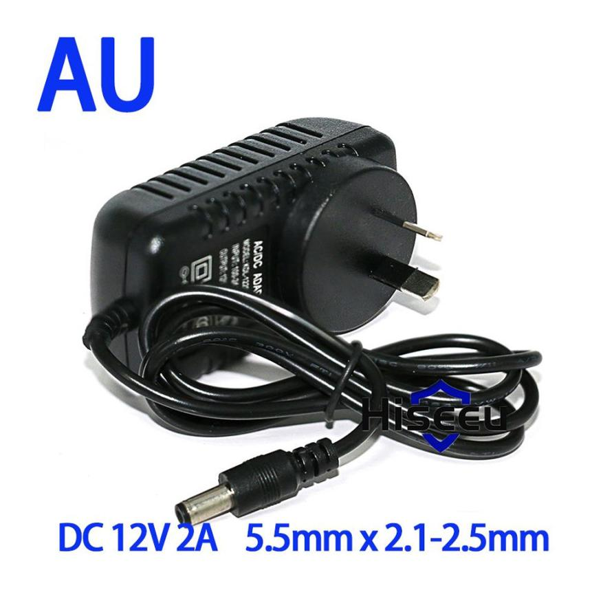 Hiseeu Charger Adaptor For IP Camera AC 100-240V to DC 12V 2A Switch Switching Power Supply Converter Adapter Plug Dropshipping meanwell 12v 350w ul certificated nes series switching power supply 85 264v ac to 12v dc