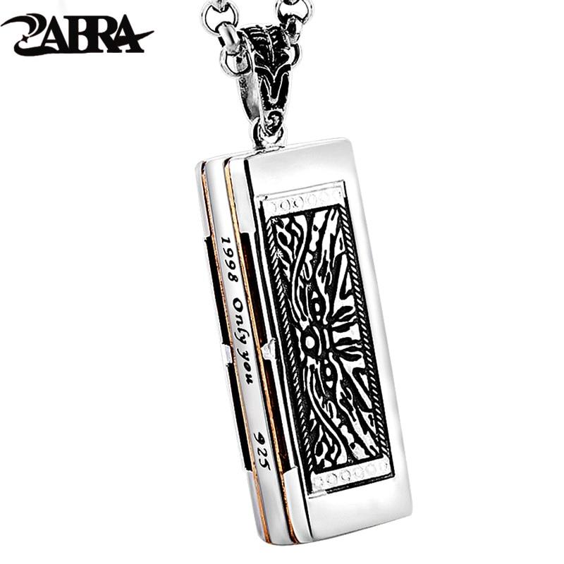 Здесь продается  ZABRA Pure 925 Sterling Silver Harmonica Can Be Sounded Cool Pendant for Women Men Vintage Love Punk Charm Women Silver Jewelry  Ювелирные изделия и часы