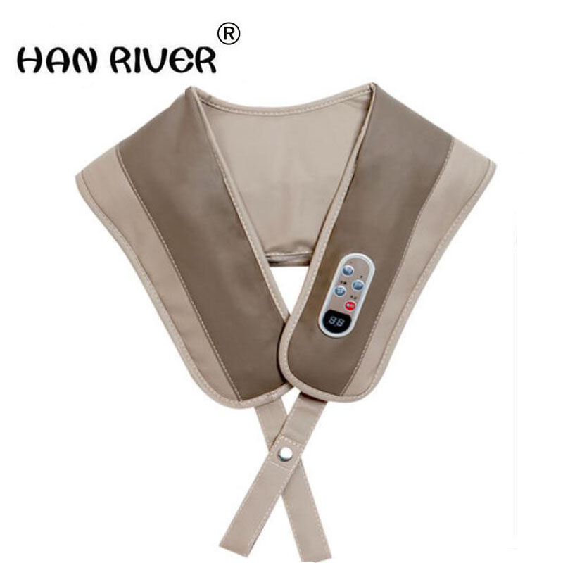 HANRIVER Massage shawl neck massager neck massager neck shoulder waist leg beat household electric hanriver massager cushion for shakti