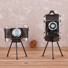 Retro Tripod Camera Model Figurine Ornaments Crafts Shop Window Personalized Furnishings Soft Decorations Photography Props(China)