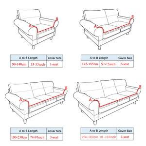Image 5 - Polar Fleece Sofa Cover Dikke Universele Elastische Hoes Maïskorrels Textuur Couch Cover Furniture Covers 1/2/3/4 Zits Bank