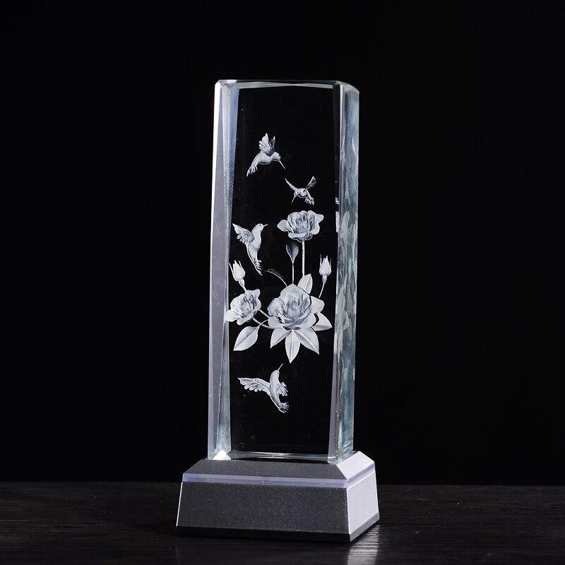 WoodPecker ziedu lāzers galda lampās Amazing 3D Night Light Baby - Nakts gaismas - Foto 3