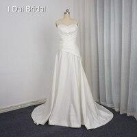 Сердце Форма Пляжные Свадебные платья Пользовательские делать Западная корсет линии Спагетти ремень Кристалл бисера