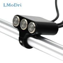 Headlight Motorcycle-Switch Indicator Hazard-Brake 22mm with Lmodri Aluminum ON-OFF Modified