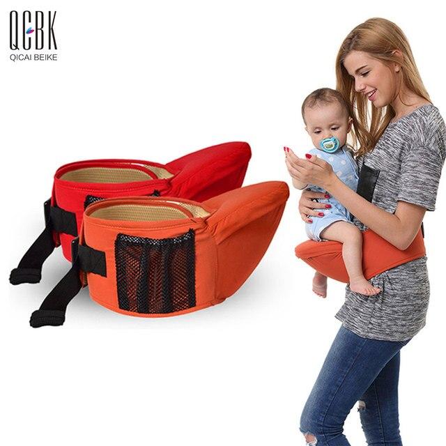 Respirant Tissu Porte Bébé Hip Siège Sac À Dos Bébé Sling Wrap - Sac porte bébé