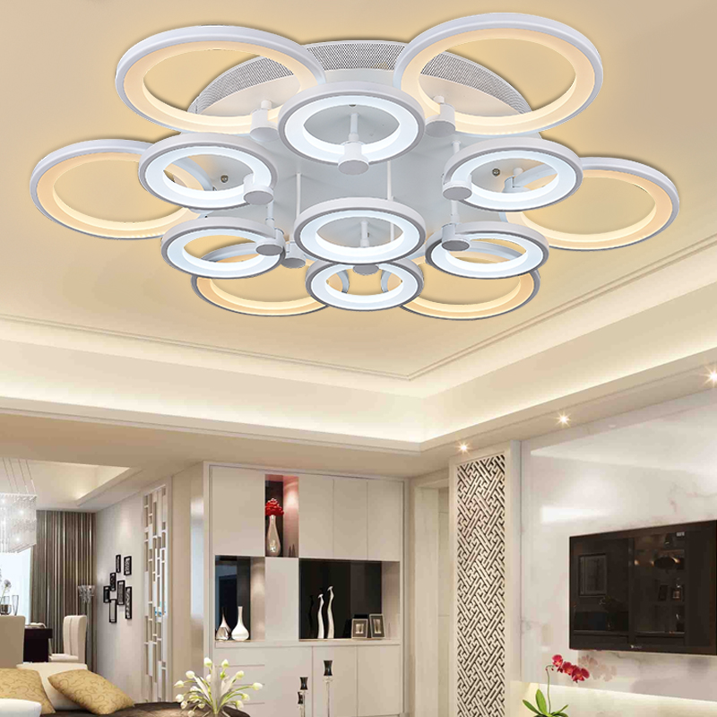 New Acrylic Modern led ceiling lights for living room bedroom Plafon led home Lighting ceiling lamp home lighting light fixtures new modern led ceiling lights for living room bedroom plafon home lighting combination white and black home deco ceiling lamp