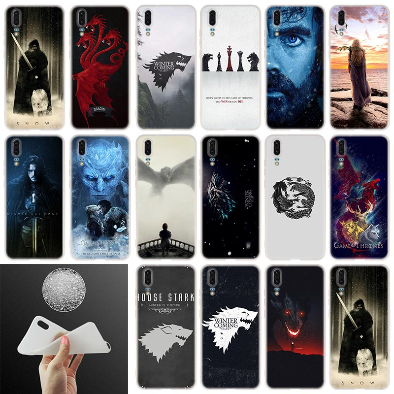 Soft Silicone Phone Case Game of Throne poster For Huawei P30 P20 P30Pro P10 P9 P8 Plus Lite 2017 P samrt 2019 Cover image
