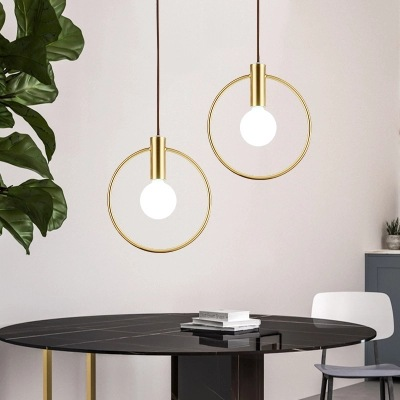 Modern Simple Led Hanging Lamp Ring Iron Round Pendant Light Fixture Bedside Shop Restaurant Droplight Golden Lighting FixutureModern Simple Led Hanging Lamp Ring Iron Round Pendant Light Fixture Bedside Shop Restaurant Droplight Golden Lighting Fixuture
