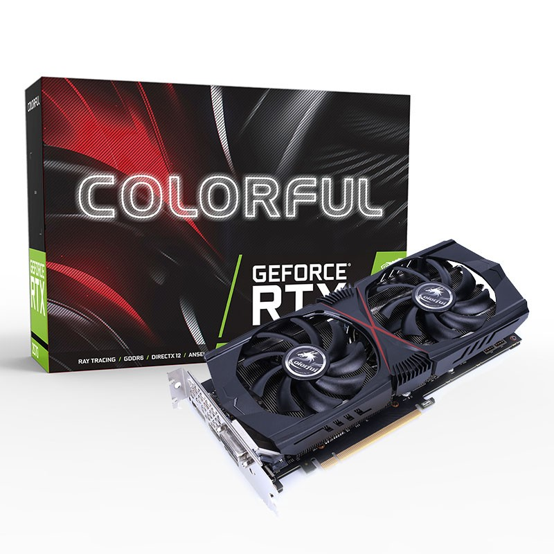 Coloré GeForce RTX 2060 Gaming GT 6 GB GDDR6 TU106-200A Carte De Jeu Vidéo carte graphique 2DP + HDMI + DVI 8Pin 14 Gbps 192bit PC