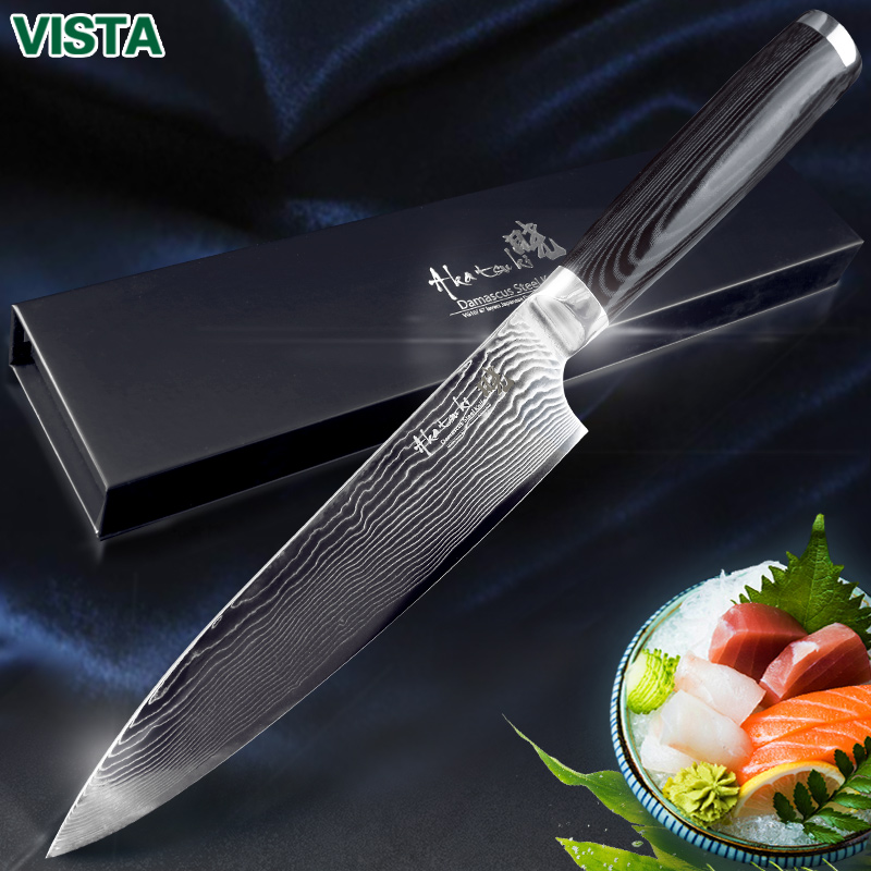 Damaskus Messer Kochmesser Japanischen Küche Messer Damaskus VG10 67 Schicht Edelstahl Messer Ultra Sharp Micarta Griff