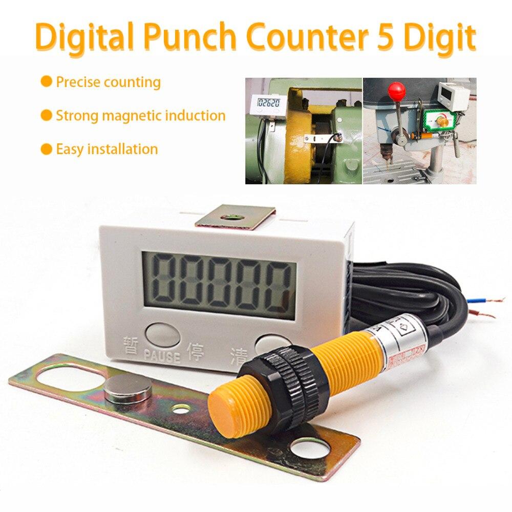 0-99999 ЖК цифровой дисплей электронный счетчик перфоратор Магнитный индукционный Бесконтактный переключатель возвратно-поворотный счетчик