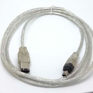 Image 2 - Fire Wire leads 4 FT 1.2m IEEE 1394 FireWire iLink DV Cable 6 Pin to 4 Pin cord new