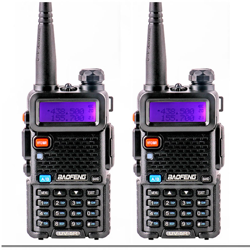 Walkie Talkie 2pcs 2018 Baofeng Uv 5R For Communicator ham Radio Amador woki toki boafeng Uv