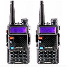 Walkie talkie 2 pces 2021 baofeng Uv-5R para o rádio do presunto do comunicador amador woki toki boafeng uv 5r rádio de 2 vias cb rádio