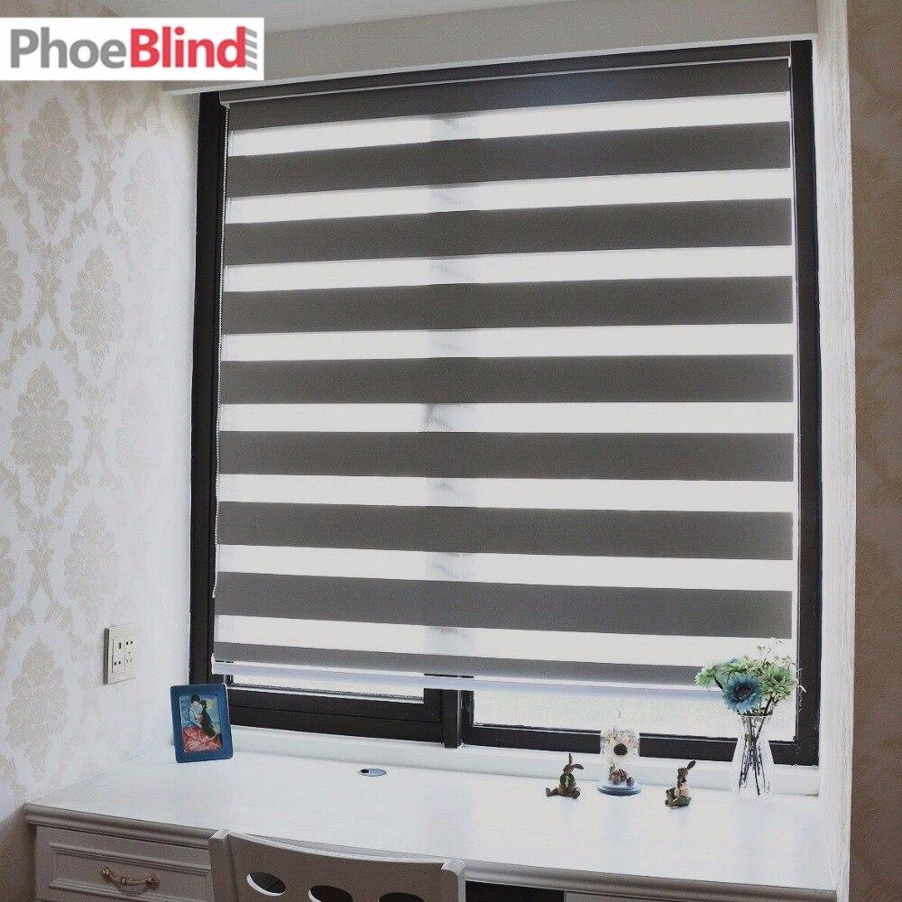 Custom Made Sizes Roller Zebra Blinds Light Filtering Sheer Shade China Mainland