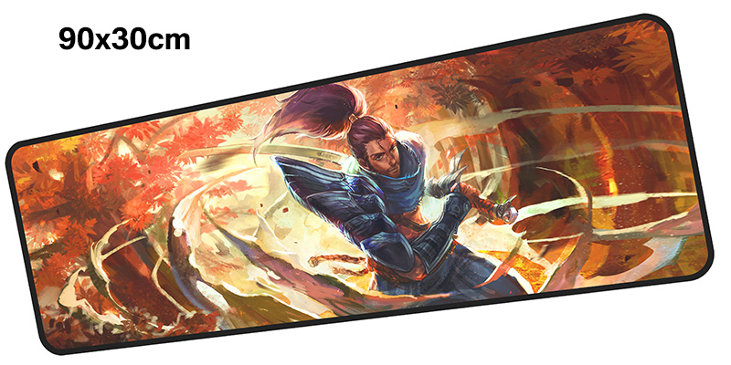 yasuo mouse pad gamer 900x300mm notbook mouse mat large gaming mousepad Birthday present pad mouse PC desk padmouse accessories