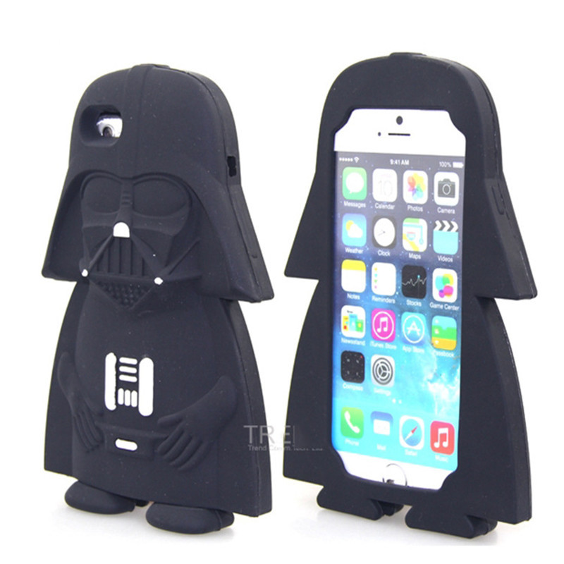 timeless design 09b3d a4e56 For Iphone 5 5S SE 6 6S Plus Case 3D Silicon Darth Vader Cat Sulley Cartoon  Soft Phone Cover For Iphone 6 6S 7 Plus 8 Plus 5S