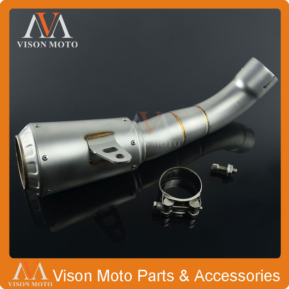 Motorcycle 45MM Exhaust Pipe Muffler Carbon Fiber Pipe For YAMAHA YZFR3 YZF-R3 YZF R3 2015 2016 15 16 laser mark motorcycle modified muffler sc carbon fiber exhaust pipe for ducati 1000ss 916 916sps 996 998 999 b s r diavel