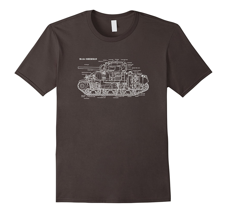 2018 Hot Sale 100% cotton Tank WW2 Era American Tank T-Shirt Summer Style Tee shirt