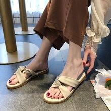 Female Beach Outdoor Slippers Ins 2019 Summer New Office Lady Fashion Joker Women Flat