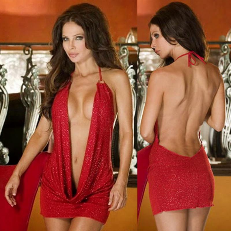 Women Robe Sexy Dress Deep V Neck Backpack Mini Hip Ladies Charming Suspender Underwear Night Club сексуальное платье женское