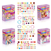 251pcs 4 Boxes Kit Children S Educational Bead Toys Bracelet Necklace Rings DIY Beading Kits Magic