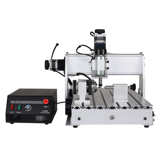 US $850 0  4 Axis cnc 3040 z dq 3040t 4d pcb drilling machine wood router  woodworking mini cnc milling machine diy carving-in Wood Routers from Tools