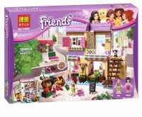 New BELA Friend Series City Food Market Building Blocks Friends Bricks Gift Toys Compatible With Legoe