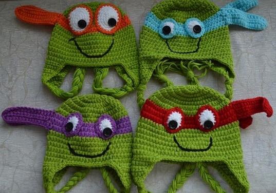 Crochet Teenage Mutant Ninja Turtles Knitted Hat Newborn Infant Toddler  Baby Boys Girls Kids Children Winter 26d2fd686d1