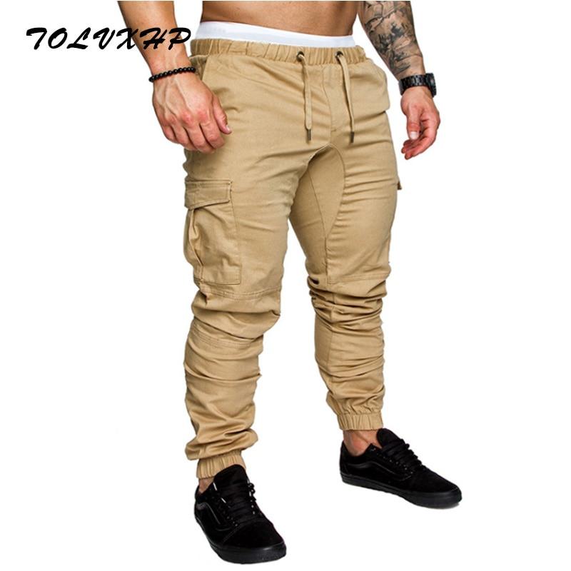 2018 бренд Для мужчин Штаны хип-хоп шаровары бегунов Штаны 2018 мужчины брюки Для мужчин s джоггеры Твердые multi-карман Штаны пот Штаны 4XL
