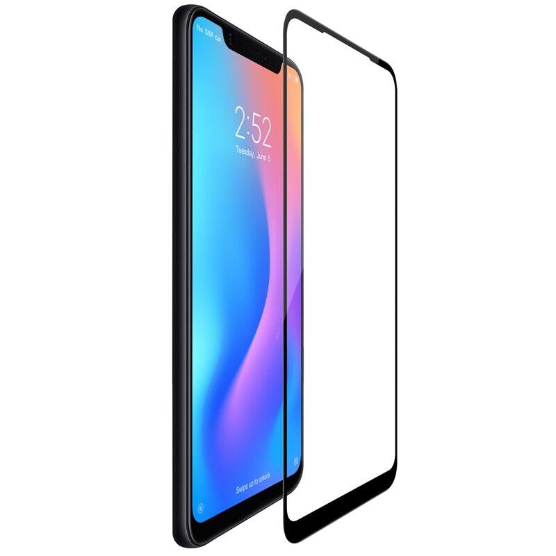 Für xiaomi mi 8 glas screen protector voll abgedeckt nillkin 3D Max 9 H 0,33mm dünne für xiaomi mi 8 gehärtetem glas gebogene 6,21 zoll