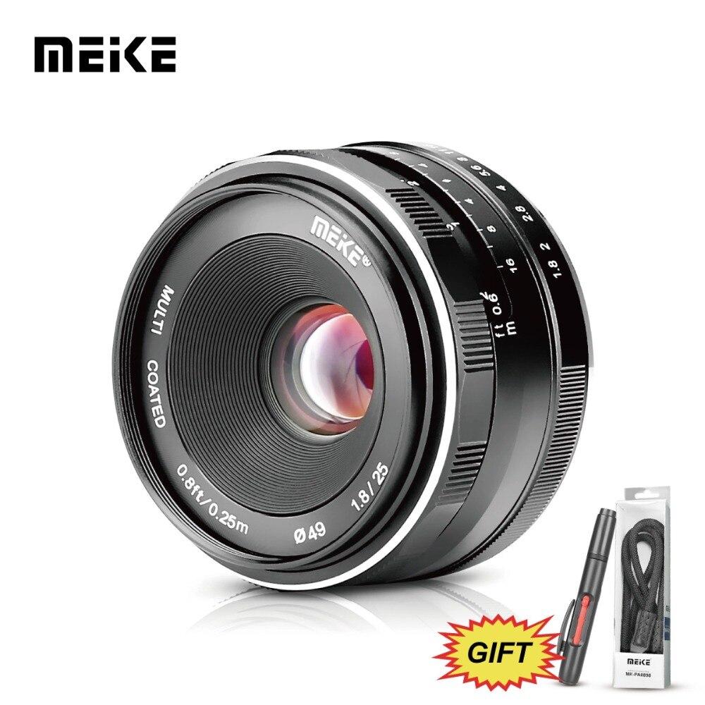 Meke MeiKe МК 25 мм f1.8 большой апертурой Широкий формат объектив руководство для Canon EOS M1 M2 M3 M5 M6 M10 M100 EF-M Крепление камеры + Бесплатный подарок