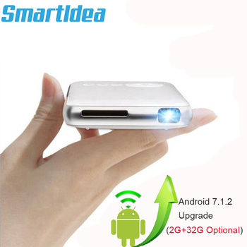 Android 7.1.2 5000mAh Battery Handheld Mini LED Projector