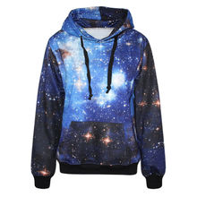 3d Print Galaxy Space Sweatshirts Hooded Men/Women With Hat Star Autumn Winter Loose