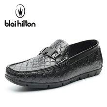 Blaibilton Низкий Топ 100% Роскошная натуральная кожа Мужские Лоферы для вождения Модные Классические повседневные мужские туфли Лодка Дизайнер SD6133